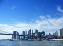 γέφυρα Μπρούκλιν χαμηλότερο Μανχάτταν Νέα Υόρκη Στοκ Φωτογραφίες