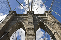 γέφυρα Μπρούκλιν Στοκ Φωτογραφία