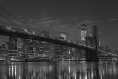 γέφυρα Μπρούκλιν Μανχάτταν Νέα Υόρκη η Αμερική δηλώνει ενωμένο Στοκ Φωτογραφία