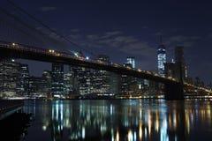 γέφυρα Μπρούκλιν Μανχάτταν Νέα Υόρκη η Αμερική δηλώνει ενωμένο Στοκ Φωτογραφίες