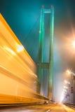 Γέφυρα νύχτας Στοκ εικόνες με δικαίωμα ελεύθερης χρήσης