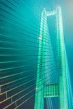 Γέφυρα νύχτας Στοκ Φωτογραφία