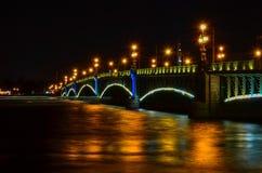 Γέφυρα νύχτας Στοκ Φωτογραφίες