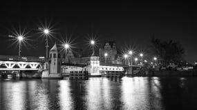 Γέφυρα νύχτας Στοκ Εικόνες
