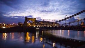 Γέφυρα νύχτας Στοκ εικόνα με δικαίωμα ελεύθερης χρήσης