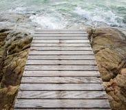 γέφυρα ξύλινη Στοκ εικόνες με δικαίωμα ελεύθερης χρήσης