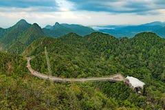 Γέφυρα ουρανού σε Langkawi, Μαλαισία στοκ εικόνες