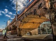 Γέφυρα οδών του Μάντσεστερ πρώτη Στοκ Εικόνες