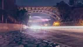 Γέφυρα πέρα από μια εθνική οδό Timelapse απόθεμα βίντεο