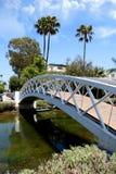 Γέφυρα πέρα από τα κανάλια της Βενετίας σε νότια Καλιφόρνια Στοκ φωτογραφίες με δικαίωμα ελεύθερης χρήσης