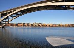 Γέφυρα πέρα από τη Στοκχόλμη Στοκ Φωτογραφία