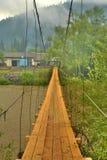 γέφυρα πέρα από τον ποταμό στον Καρπάθιο Στοκ Εικόνες