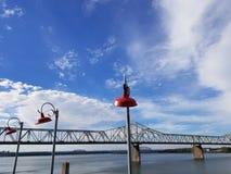 Γέφυρα πέρα από τον ποταμό Στοκ εικόνα με δικαίωμα ελεύθερης χρήσης