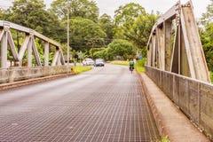 Γέφυρα πέρα από τον ποταμό Cano στη Κόστα Ρίκα Στοκ φωτογραφία με δικαίωμα ελεύθερης χρήσης