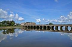 γέφυρα πέρα από τον ποταμό taw στοκ εικόνα