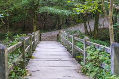 γέφυρα πέρα από το ρεύμα Στοκ εικόνα με δικαίωμα ελεύθερης χρήσης