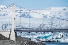 Γέφυρα πέρα από Jokulsarlon, Ισλανδία στοκ φωτογραφία με δικαίωμα ελεύθερης χρήσης