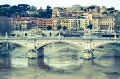 Γέφυρα πέρα από Tiber Στοκ Εικόνες