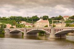 Γέφυρα πέρα από Vltava, Πράγα, Δημοκρατία της Τσεχίας 2017 στοκ φωτογραφίες