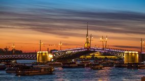 Γέφυρα παλατιών διαζυγίου, Αγία Πετρούπολη απόθεμα βίντεο