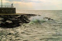 Γέφυρα παρατήρησης που αγνοεί τη θάλασσα της Βαλτικής Στοκ Εικόνες