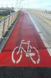 Γέφυρα πεζών και ποδηλατών Στοκ Εικόνα