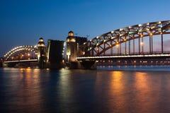 γέφυρα Πετρούπολη ST Στοκ φωτογραφία με δικαίωμα ελεύθερης χρήσης