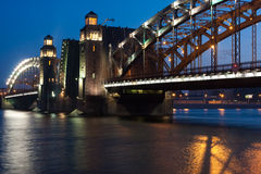 γέφυρα Πετρούπολη ST Στοκ Εικόνα