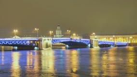 γέφυρα Πετρούπολη Άγιος απόθεμα βίντεο
