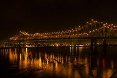 Γέφυρα ποτάμι Μισισιπή Στοκ Εικόνες