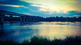 Γέφυρα 2 ποταμών κοιλάδων ποταμών Στοκ Εικόνες