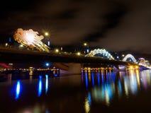 Γέφυρα ποταμών δράκων στη DA Nang Στοκ Εικόνες