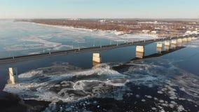 Γέφυρα ποταμών της Kama απόθεμα βίντεο