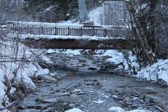 Γέφυρα που καλύπτεται στο χιόνι Στοκ Φωτογραφία