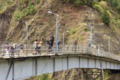 Γέφυρα που πηδά σε Banos, Ισημερινός Στοκ εικόνες με δικαίωμα ελεύθερης χρήσης