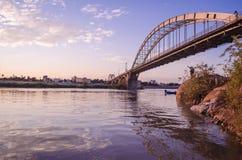 Γέφυρα Πολωνού Sefid Ahvaz Στοκ Εικόνες