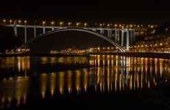 Γέφυρα Πόρτο Πορτογαλία Arrabida Στοκ φωτογραφίες με δικαίωμα ελεύθερης χρήσης
