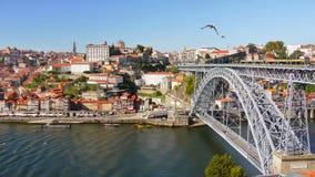 Γέφυρα πόλεων του Πόρτο, Πορτογαλία Στοκ Εικόνες