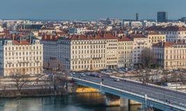 Γέφυρα, πόλη της Λυών Γαλλία Στοκ φωτογραφία με δικαίωμα ελεύθερης χρήσης