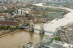 Γέφυρα πύργων από το Shard στοκ φωτογραφίες