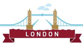 Γέφυρα πύργων του Λονδίνου γραμμική Στοκ Φωτογραφία