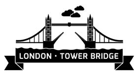 Γέφυρα πύργων του Λονδίνου γραμμική Στοκ φωτογραφία με δικαίωμα ελεύθερης χρήσης