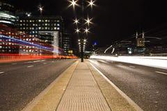 Γέφυρα πύργων του Λονδίνου άποψης νύχτας Στοκ φωτογραφίες με δικαίωμα ελεύθερης χρήσης