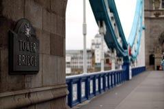 Γέφυρα πύργων στοκ φωτογραφία
