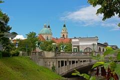 Γέφυρα δράκων, Λουμπλιάνα στοκ φωτογραφία με δικαίωμα ελεύθερης χρήσης