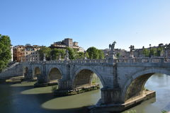 Γέφυρα Ρώμη Άγιος Angelo Στοκ εικόνα με δικαίωμα ελεύθερης χρήσης