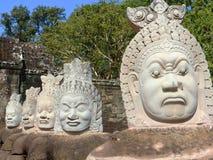 Γέφυρα σε Angkor Wat/την Καμπότζη Στοκ εικόνες με δικαίωμα ελεύθερης χρήσης