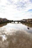 Γέφυρα σε Arno στοκ φωτογραφίες