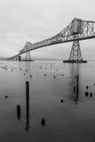Γέφυρα σε Astoria, Όρεγκον Στοκ Φωτογραφία