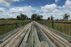 Γέφυρα σε Moremi στοκ φωτογραφίες με δικαίωμα ελεύθερης χρήσης